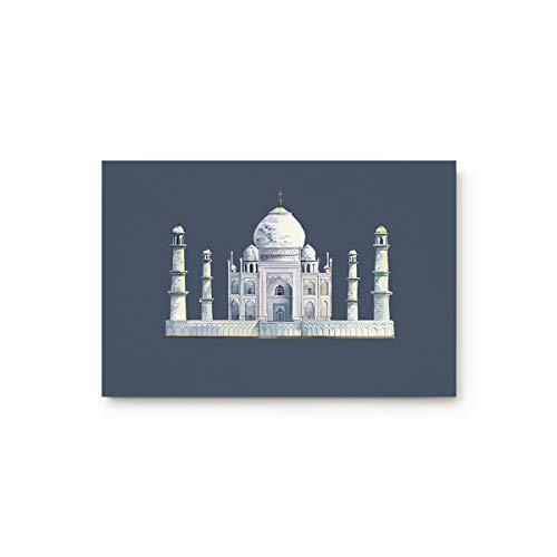 MUSEDAY Amazing View Taj Mahal Entryway Door Rug Floor Mat 20x31.5inch Landmark Building Thai Castle Art Design Doormat Indoor Shoe Scraper Rubber Entrance Mat for Living Dining Dorm ()