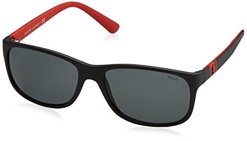 Polo Ralph Lauren Men's 0ph4109 Rectangular Sunglasses, Matte Black3, 59 - Lauren Polo Ralph Frames