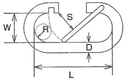 水本 ステンレス O型フック(ロープ用)線径2.5mm長さ18mm MO2.5R