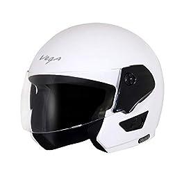 Vega Cruiser Open Face Helmet (White, Medium)