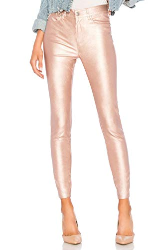 Free People Metallic Faux Leather Pants, Size 26 - Pink from Free People