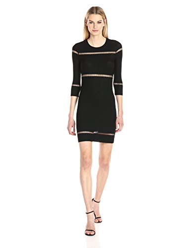 Black French Danni Connection Dress Knits Ladder Women's O11Ec8Zrvq