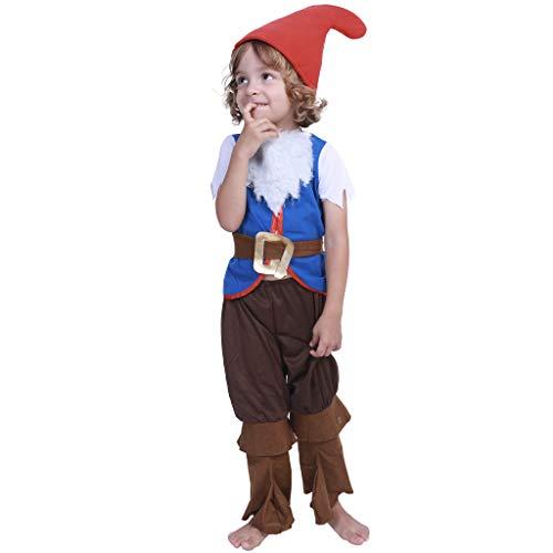 FantastCostumes Kids Christmas Dwarfs Garden Gnome Costumes Set ()