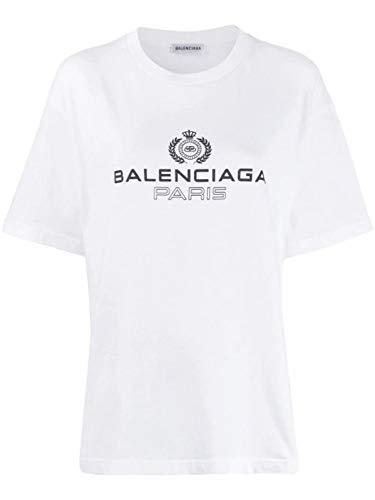 Balenciaga Luxury Fashion Womens 594599TGV609000 White T-Shirt | Fall Winter 19