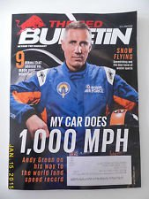 (New Red Bulletin February 2015 Snow Flying Car World Land Speed Record Bikes USA)