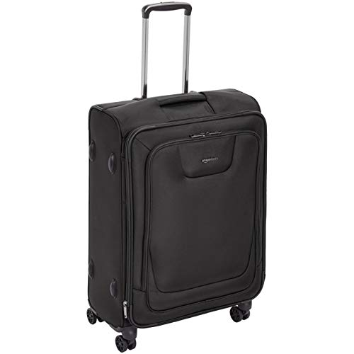- AmazonBasics Expandable Softside Spinner Luggage Suitcase With TSA Lock And Wheels - 25 Inch, Black