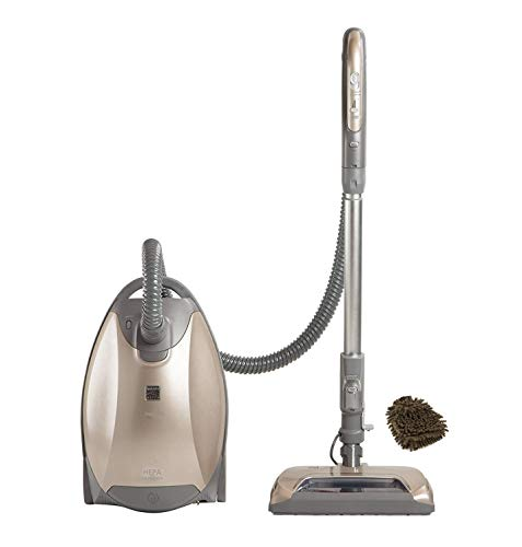 81714 Kenmore Elite Vacuum, Bags Pet Friendly Ultra Plush Canister, Bagged 02081714, Champagne Gray (Complete Set) w/Bonus: Premium Microfiber Cleaner Bundle