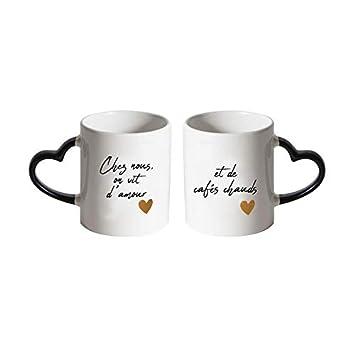 Poignée 2 Coffret Et Mugs Coeur Cafés Avec Chauds Amour PXTOkZiu