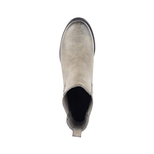 Cuir Boots 181 Grey Plate Neuf Femme Chaussures Bottes Chelsea New 0wxqnC6