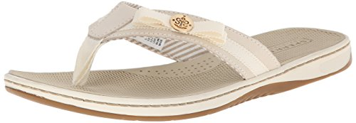 Sperry Top-Sider Women's Serenafish Flip Flop, Ivory/Charcoal, 7.5 M US