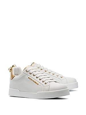 Dolce e Gabbana Luxury Fashion Womens CK1602AN2988B996 White Sneakers   Season Permanent