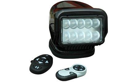 36 Watt Golight Stryker Wireless Remote Control LED Spotlight - 12 Volt DC - Black - Permanent Mount by Larson Electronics
