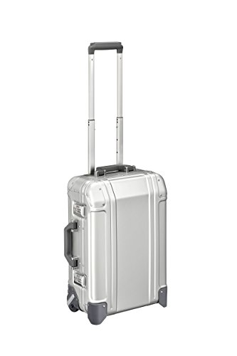 Zero Halliburton Geo Aluminum 3.0-Carry-on 2-Wheel Travel Case, Silver ()