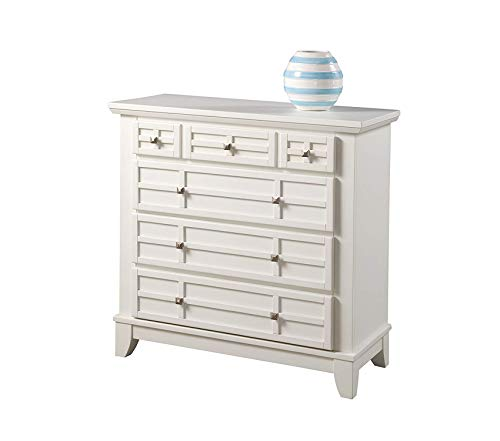 Hоmе Stylеs Office Home Furniture Premium Arts and Crafts Four Drawer Chest, White Finish ()