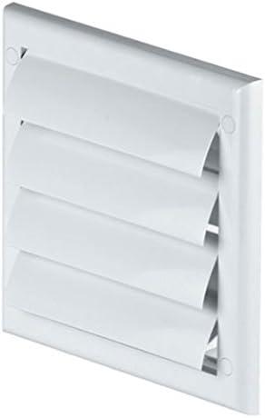 FUSSY CHOICE LTD - Rejilla de ventilación (plástico, 100 mm, compuertas de gravedad), color blanco