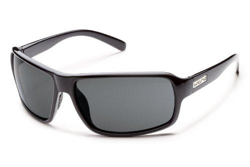 Suncloud Tailgate Polarized Sunglasses, Black Frame, Gray - Street M Sunglasses