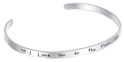 Stainless Steel Cuff Bracelet Engraved