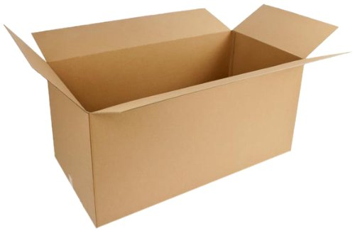 Pratt PRA0409 Recycled Corrugated Cardboard Double Wall Heavy Duty Box with BC Flute, 48'' Length x 24'' Width x 24'' Height, (Pack of 5)