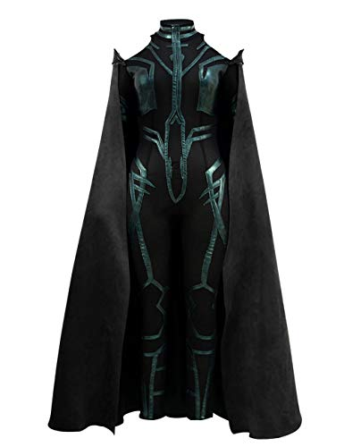 Brilliant Female Halloween Costumes (VOSTE Hela Costume Halloween Cosplay Outfits with Cloak for Women (Medium))