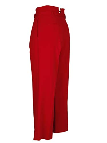 Donna Pantaloni QR3RB1A32EUC61 Valentino Rosso Red Acetato gaxFqwz