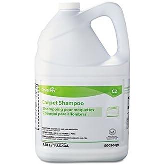 Diversey Carpet Shampoo, Floral, 1gal Bottle, 4/Carton