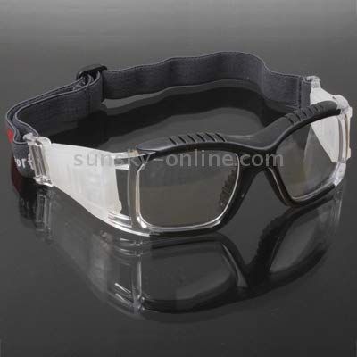 Zhongcheng Wrap Goggles Sports Glasses Eyewear for Basketball/Soccer Game (White) (Color : Black)