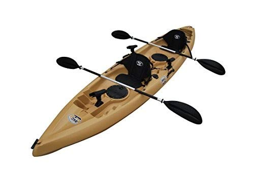 - BKC TK181 12.5' Tandem Sit On Top Kayak W/ Seats, Paddles, 7 Rod Holders Included 2 Person Kayak