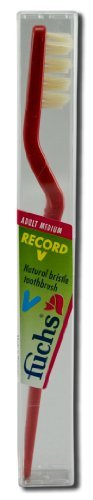 Fuchs Toothbrushes Pure Natural (Boar) Bristle Record V Adult Medium - 3PC ()
