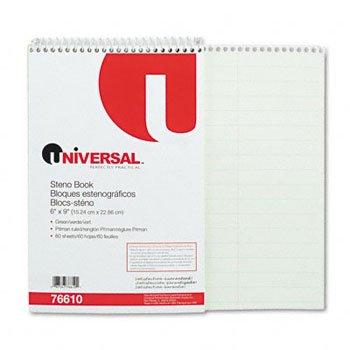 Universal® Steno Books BOOK,STENO,PITMAN,60SH,GN (Pack of100) by UNVSL