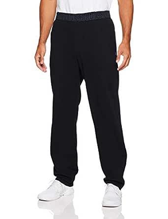 Bonds Men's Essentials Logo Straight Leg Trackie, Black, Medium