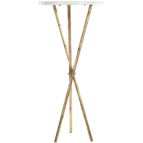 Safavieh Home Collection Roger White and Gold Accent Table