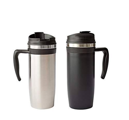 - Double Walled Foam Insulated Metro Mug Tumbler with Comfort Grip Handle, 16 Ounce, Pack of 2