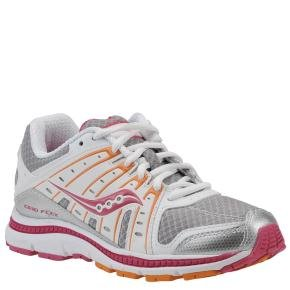 Saucony Grid Flex girls silver/pink/orange 11 Medium (Grid Saucony Youth)