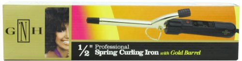 Gold 'N Hot Professional Gold Barrel Curling Iron, 1/2 Inch