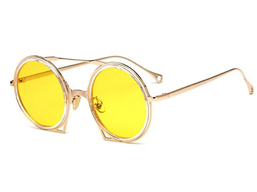 sol de de multicolor estilo Gafas Opcional sol redondas UV400 europeo Gafas metal para F y americano RDJM mujer lentes marco e Eqx754Uw