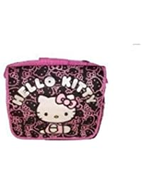HELLO KITTY MESSENGER BAG - Black with Pink Glitter