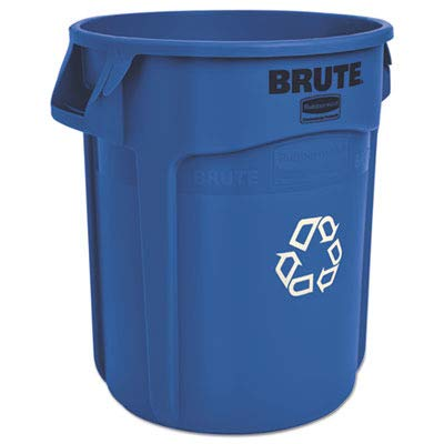 RCP262073BLU Brute Recycling Container, Round, 20 gal, Blue