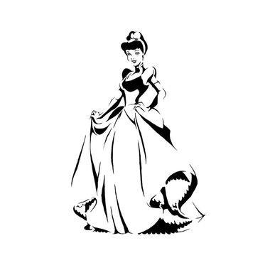 amazon com disney princess cinderella decorating stencil custom
