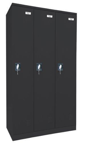 Sandusky Lee KDCL7236/3-09 Black Powder Coat Paint Steel SnapIt Full Length Locker, 72
