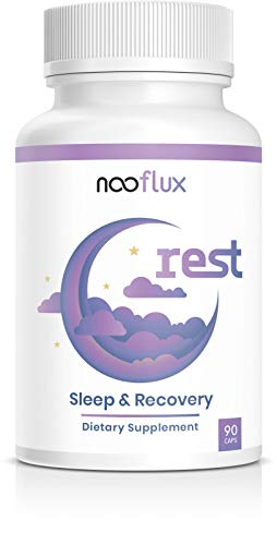 (Natural Sleep Aid - Safe, Effective, Non Drowsy Sleep Formula - Magnesium Glycinate Valerian Root Hops Extract 5-HTP Melatonin - Helps with Recovery & Relaxation - Rest by Nooflux )