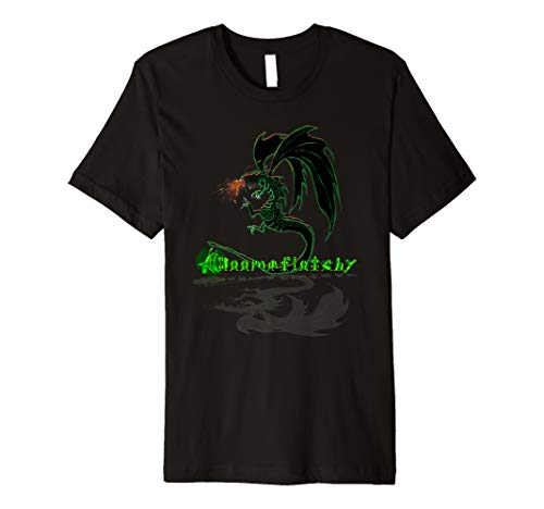 T-shirt Breathing Dragon Fire (Fire breathing dragon t shirt)