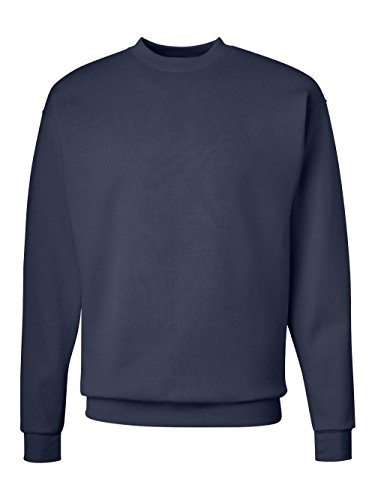 Medium Mens Large Neck Sweater (Hanes Men's EcoSmart Fleece Sweatshirt, Navy, Large)