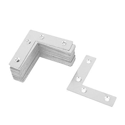 eDealMax 60 mm x 60 mm de acero inoxidable ángulo del ...