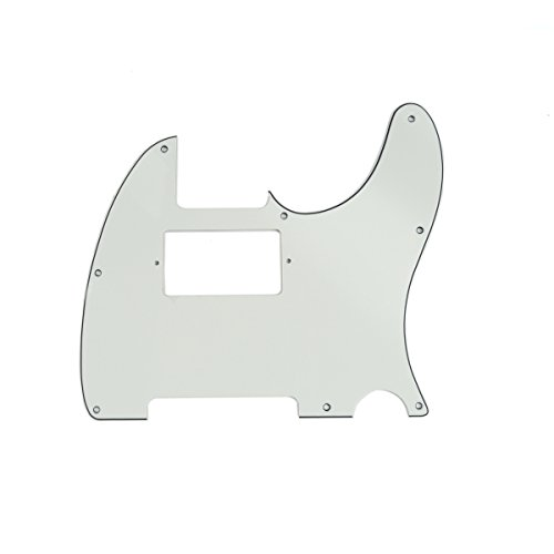 Squier Standard Tele (Musiclily 3 Ply Humbucking Electric Guitar Pickguard Pick Guard Scratch Plate for Fender USA/Mexico Standard Telecaster Tele Humbucker HH,)