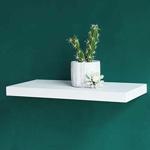 WELLAND Simons Floating Wall Shelf, White Shelves (18-inch, White) ()