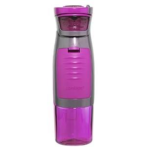Contigo AUTOSEAL Kangaroo Water Bottle with Storage Compartment, 24-Ounce, Fuchsia