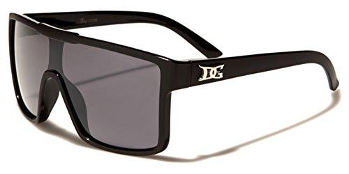 DG Eyewear Men's Flat Top Shield - Sunglasses Vintage Dg