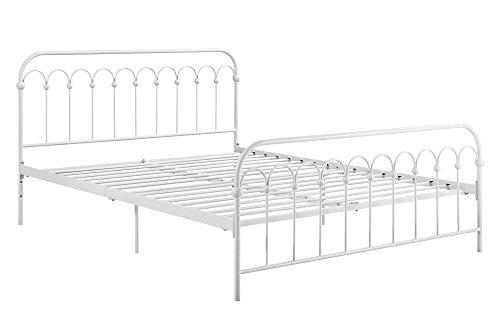 White Metal Queen Bed - 2