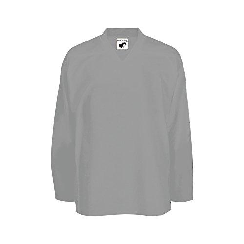 (Pearsox Air Mesh Hockey Jersey (XL, Silver))