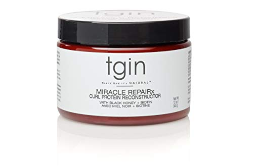 - tgin Miracle Repairx Curl Protein Reconstructor Healthy Scalp - Strengthening Shampoo for Natural Hair - Dry Hair - Textured Hair - Curly Hair - Damaged Hair, 12Oz